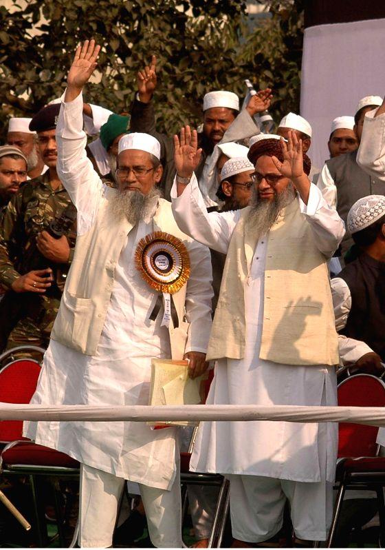 Jamiat-Ulema-e-Hind activists during a rally in Kolkata on Nov 29, 2014.