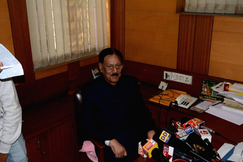 Justice Sushanta Chatterjee probing the July 21, 1993, police firing in which 13 Congress workers were killed addresses a press conference in Kolkata, on Dec 29, 2014. Justice Chatterjee ...