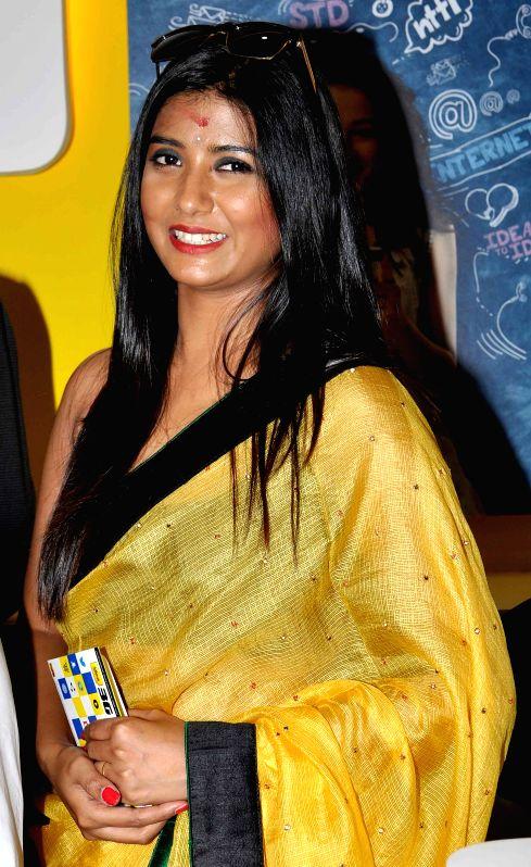 Kolkata: Actress Parno Mitra during a programme in Kolkata, on March 31, 2015.