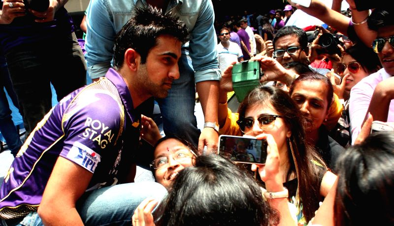 Kolkata Knight Riders captain Gautam Gambhir during a programme in Kolkata, on April 25, 2015.