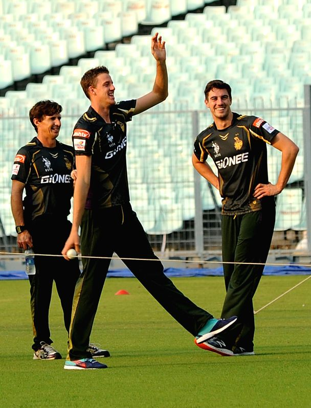 Kolkata Knight Riders player Morne Morkel during a practice session for the upcoming IPL matches in Kolkata, on April 4, 2015.