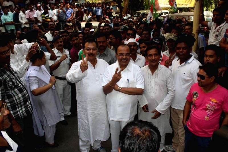 Kolkata Mayor Sovan Chatterjee arrives to file his nomination papers for  upcoming Kolkata Municipal Corporation elections in Kolkata, on March 20, 2015. - Mayor Sovan Chatterjee