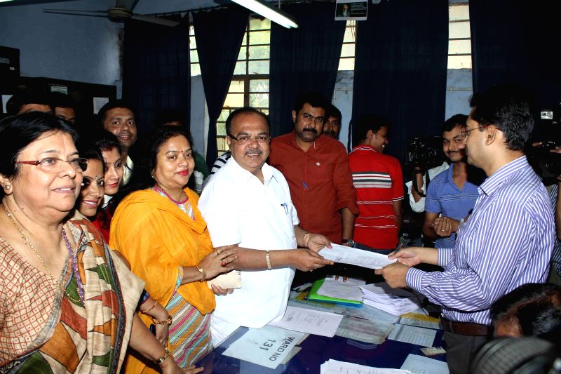 Kolkata Mayor Sovan Chatterjee files his nomination papers for  upcoming Kolkata Municipal Corporation elections in Kolkata, on March 20, 2015. - Mayor Sovan Chatterjee