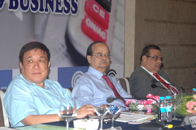 Kolkata: ​The Income Tax Department's Principal Chief Commissioner for West Bengal and Sikkim C L Denzongpa during a panel discussion and interactive session on `Current income tax laws and ...
