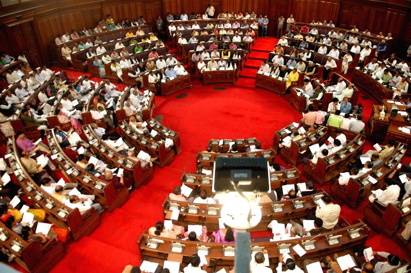 Legislators during the first day of Budget session at West Bengal Assembly in Kolkata on on Feb 19, 2015.