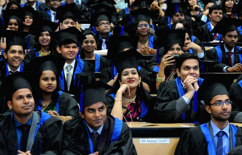 MBBS pass outs during their oath taking ceremony at a Kolkata hospital on March 9, 2015.