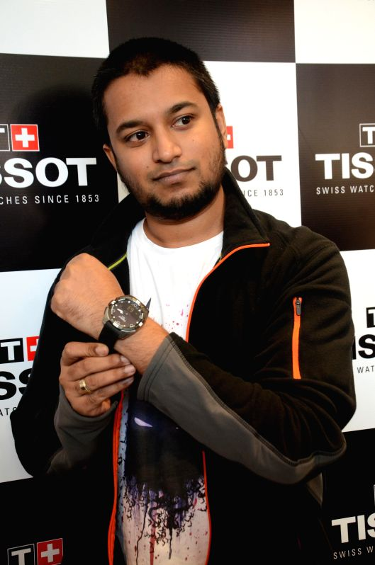 MTV VJ Jose during the launch of a Tissot`s latest touch screen watch collection powered by Solar Energy in Kolkata on Feb 5, 2015.