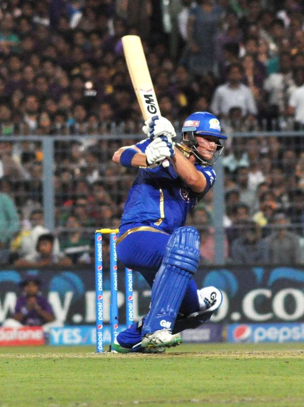 Mumbai Indians batsman Corey Anderson​ in action​ during an IPL-2015 match between Kolkata Knight Riders and Mumbai Indians in Kolkata, on April 8, 2015. - Corey Anderson