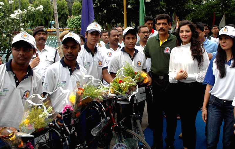 Kolkata Police Commissioner Surajit Kar Purkayastha and actress Subhashree Ganguly during a programme organised on United Nations' International Day Against Drug Abuse and Illicit Trafficking in ...