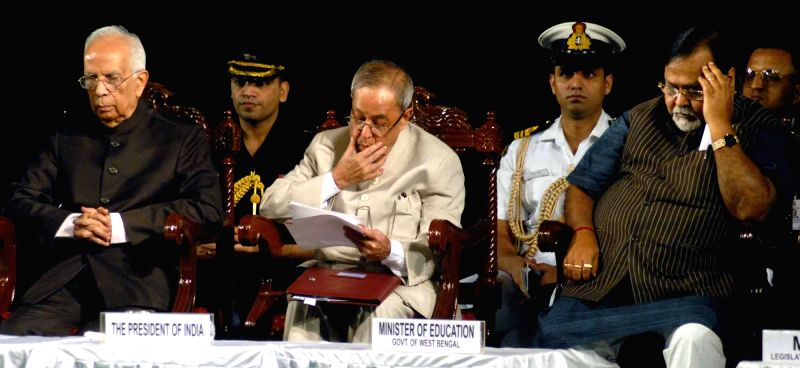 President Pranab Mukherjee during 150th years celebration of Metropolitan Institution in Kolkata on Nov 29, 2014. - Pranab Mukherjee