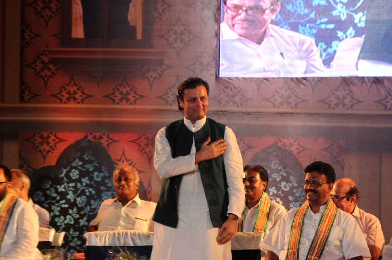 Prominent Pakistani politician and grandson of Urdu poet Muhammad Iqbal, Waleed during a programme organised to felicitate Iqbal in Kolkata, on May 29, 2015.