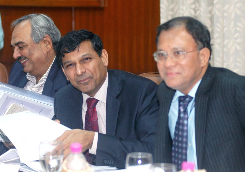RBI Governor Raghuram Rajan during the 549th RBI central board meeting in Kolkata on Dec 11, 2014.