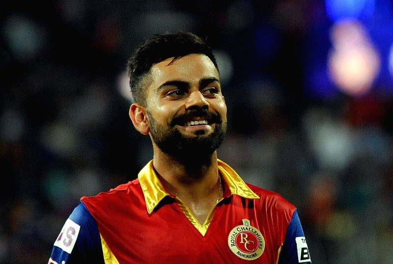 Royal Challengers Bangalore (RCB) captain Virat Kohli during an IPL-2015 match between Kolkata Knight Riders (KKR) and Royal Challengers Bangalore (RCB) at Eden Gardens in Kolkata on April ... - Virat Kohli