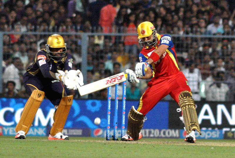 Royal Challengers Bangalore (RCB) captain Virat Kohli in action during an IPL-2015 match between Kolkata Knight Riders (KKR) and Royal Challengers Bangalore (RCB) at Eden Gardens in Kolkata ... - Virat Kohli