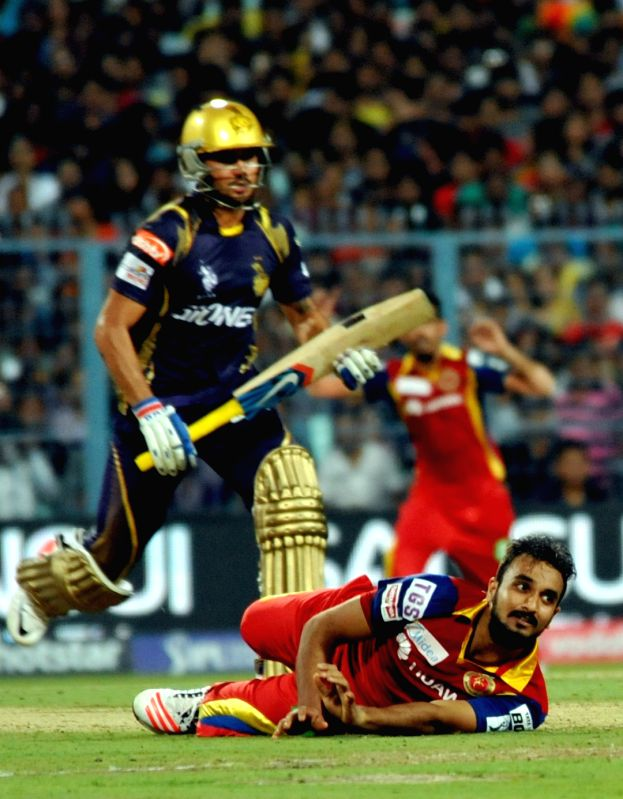 Royal Challengers Bangalore (RCB) player Abu Nechim during an IPL-2015 match between Kolkata Knight Riders (KKR) and Royal Challengers Bangalore (RCB) at Eden Gardens in Kolkata on April 11, ...