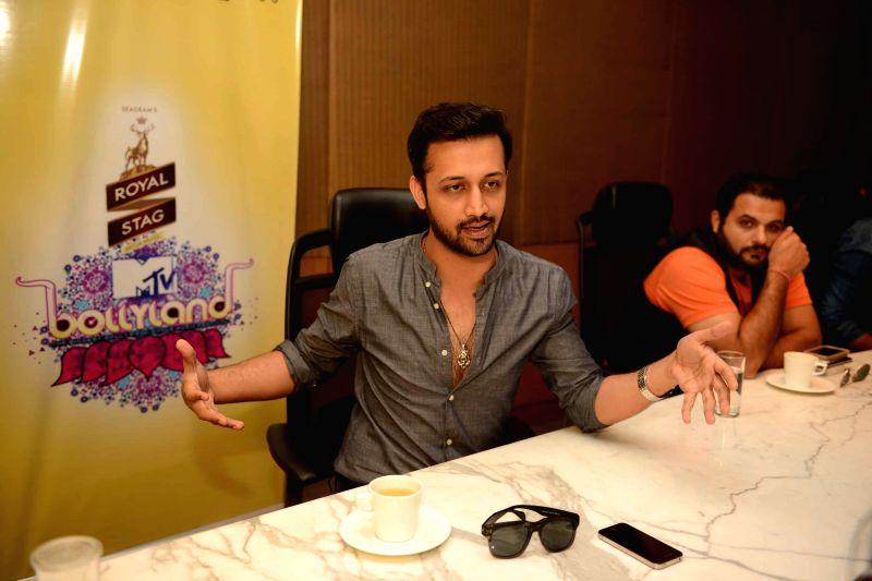 Singer Atif Aslam during a promotional program in Kolkata on May 2, 2015.