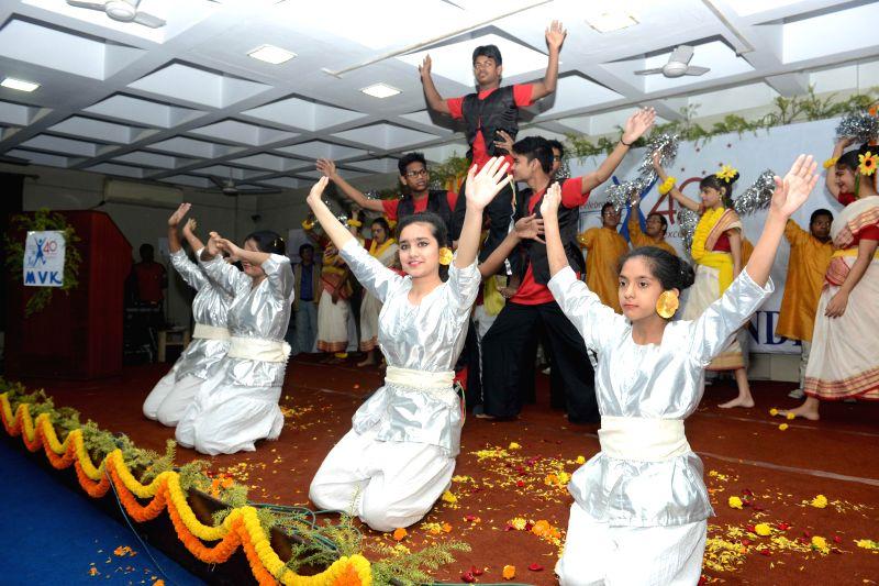 Students of Manovikas Kendra perform during the 40th year celebrations of Manovikas Kendra in Kolkata on Feb 11, 2015.