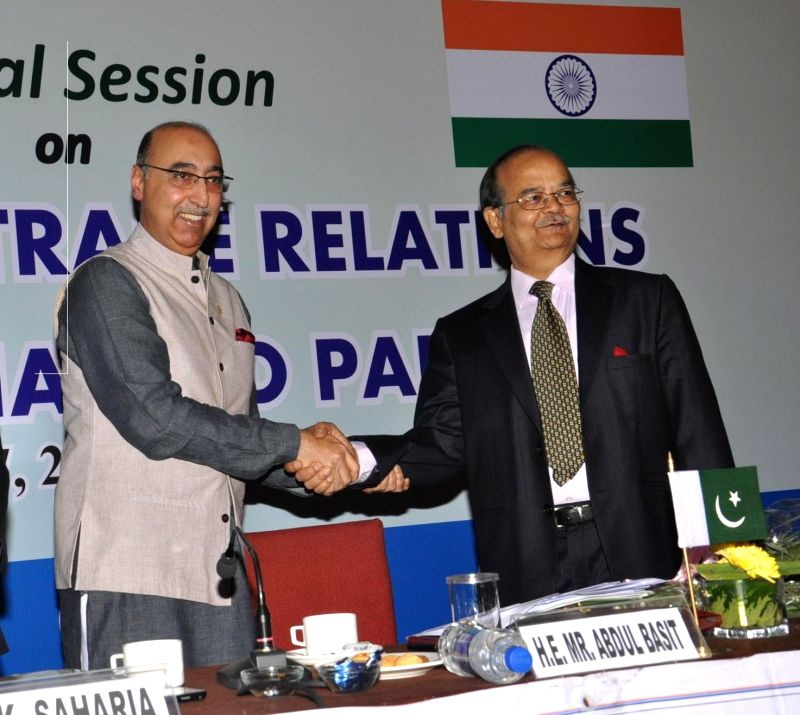 The High Commissioner of Pakistan in India, Abdul Basit during a programme  organised by the Calcutta Chamber of Commerce in Kolkata, on March 17, 2015.