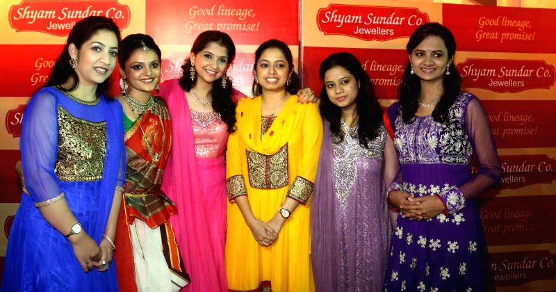 The members of `Sakhi` -  an all girl band,  during a programme in Kolkata, on Jan 20, 2015.