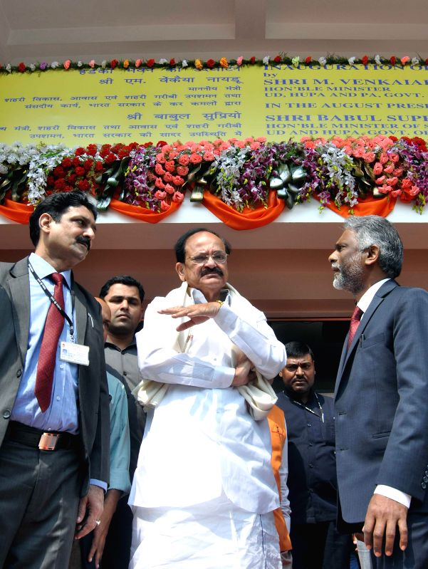 The Union Minister for Urban Development, Housing and Urban Poverty Alleviation and Parliamentary Affairs, M. Venkaiah Naidu at the inauguration of the new building of Housing and Urban ... - M. Venkaiah Naidu