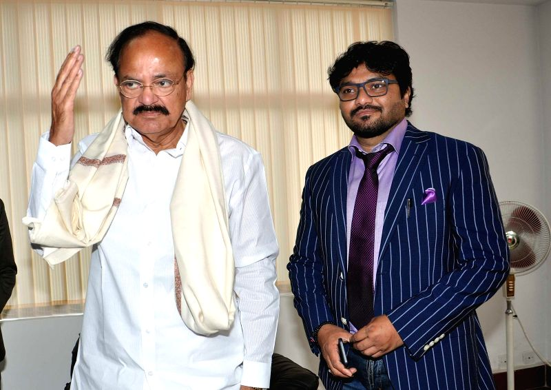 The Union Minister for Urban Development, Housing and Urban Poverty Alleviation and Parliamentary Affairs, M. Venkaiah Naidu and Union Minister of State forUrban Development Babul Supriyo at - M. Venkaiah Naidu