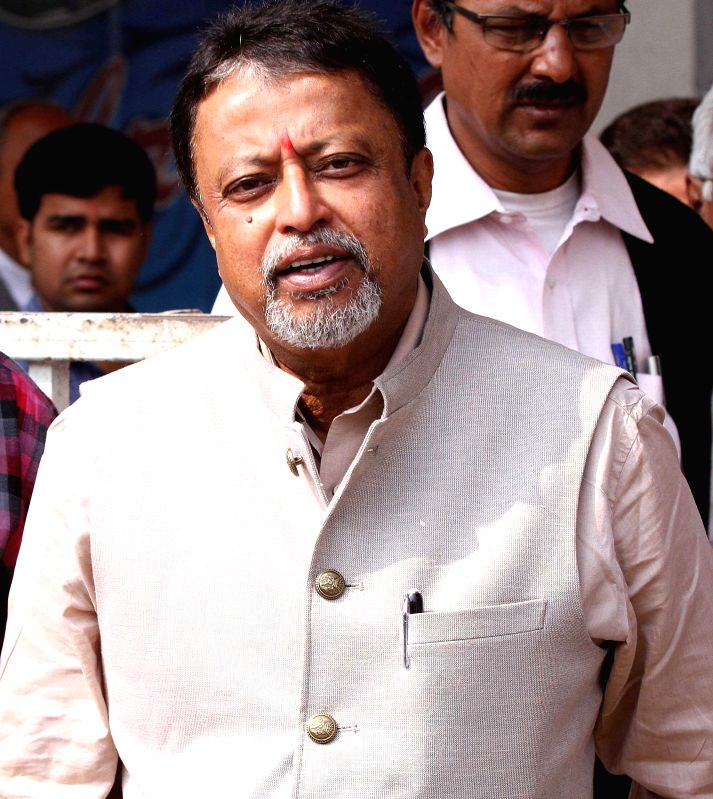 TMC leader and MP, Mukul Roy at Eden Gardens in Kolkata on Jan 29, 2015.