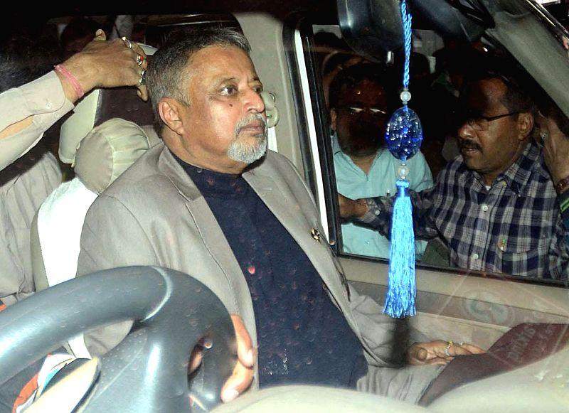 TMC MP Mukul Roy arriving at NSC Bose airport in Kolkata on Jan 17, 2015.