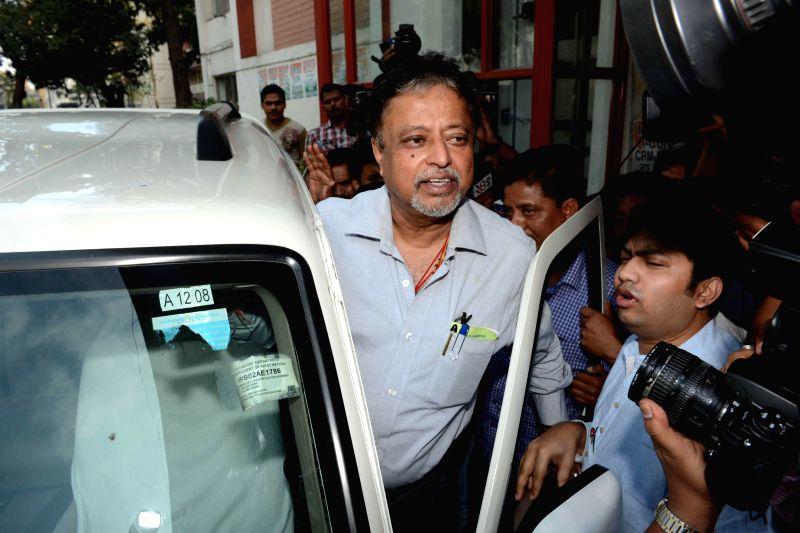 Trinamool Congress MP Mukul Roy at Nizam Palace in Kolkata, on March 1, 2015.