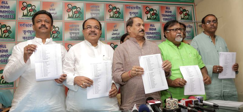Trinamool Congress MP Subrata Bakshi, West Bengal Education Minister Partha Chatterjee, West Bengal Panchayat Minister Subrata Mukherjee, Kolkata Mayor Sovan Chatterjee and West Bengal Urban ... - Partha Chatterjee, Subrata Bakshi, Subrata Mukherjee and Mayor Sovan Chatterjee