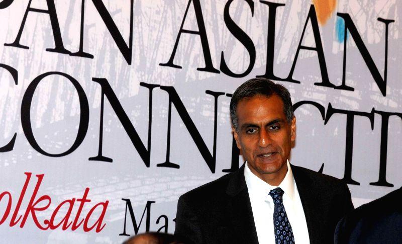 US Ambassador to India Richard Verma during `Building Pan Asian Connectivity` - a seminar, in Kolkata, on March 11, 2015.