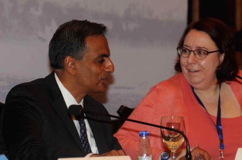 US Ambassador to India Richard Verma addresses during `Building Pan Asian Connectivity` - a seminar, in Kolkata, on March 11, 2015.