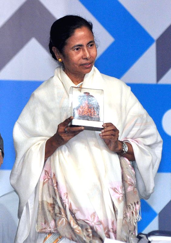 West Bengal Chief Minister Mamata Banerjee during inauguration of 39th International Kolkata Book Fair in Kolkata on Jan 27, 2015. - Mamata Banerjee