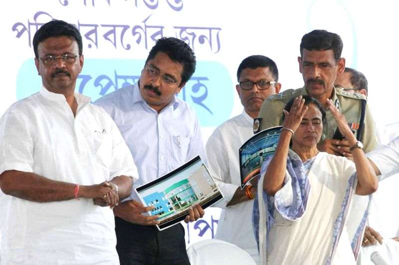 West Bengal Chief Minister Mamata Banerjee during inauguration of `Peace World` in Kolkata, on March 2, 2015.