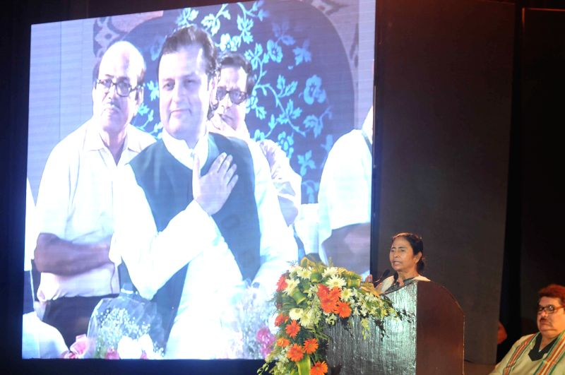 West Bengal Chief Minister Mamata Banerjee addresses during a programme organised to felicitate Iqbal in Kolkata, on May 29, 2015. - Mamata Banerjee
