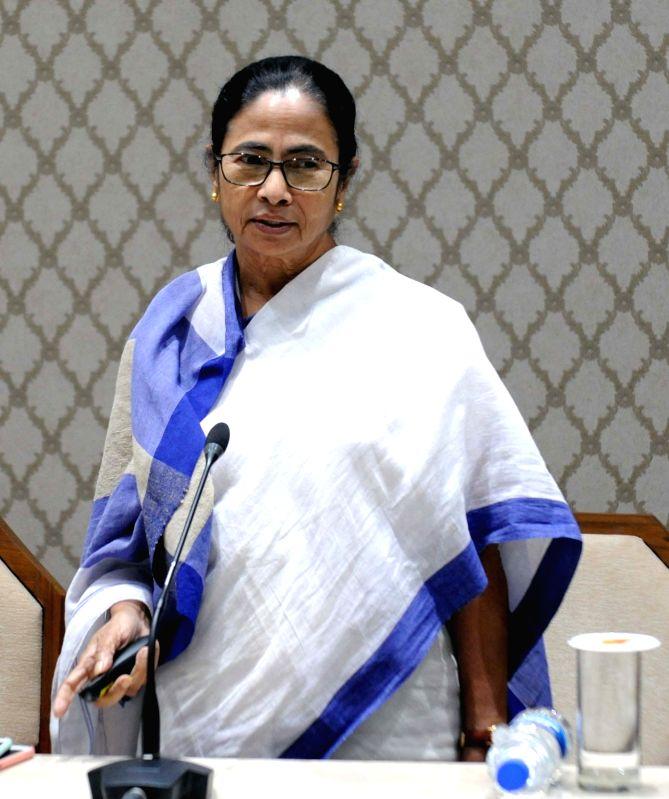 :Kolkata: West Bengal Chief Minister Mamata Banerjee at the inauguration of  'Soujonya' - a house for foreign delegates in Kolkata, on Oct 26, 2018. .