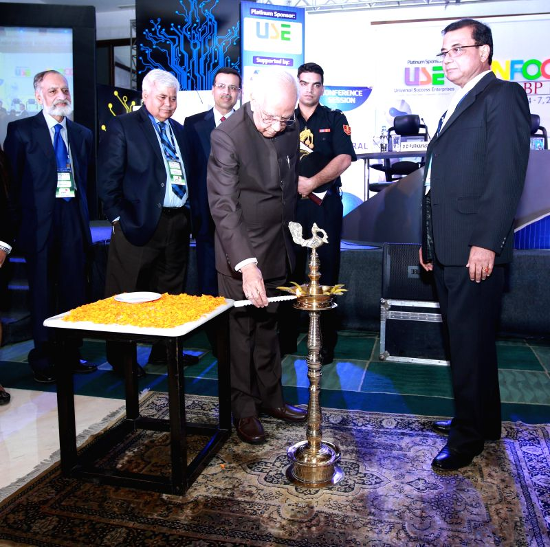 West Bengal Governor Keshari Nath Tripathi at the inauguration of INFOCOM 2014 in Kolkata, on Dec 4, 2014. - Keshari Nath Tripathi