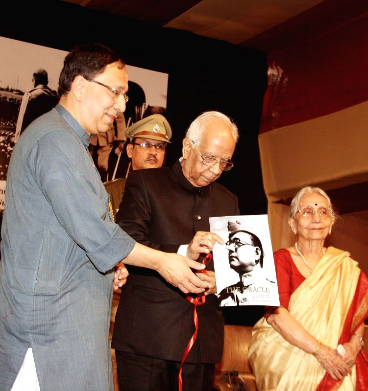 West Bengal Governor Keshari Nath Tripathi with Sugata Basu a family member of Netaji Subhas Chandra Bose during a programme organised on Netaji's birth anniversary in Kolkata, on Jan 23, ... - Keshari Nath Tripathi and Sugata Basu