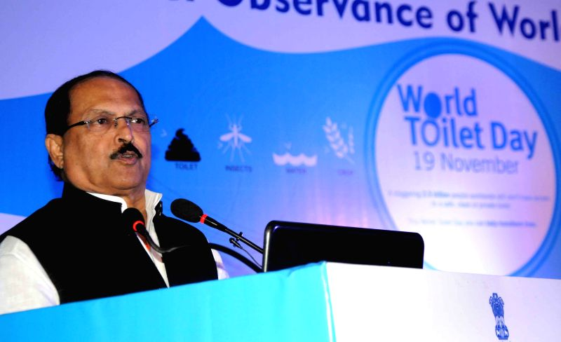 West Bengal Panchayat Minister Subrata Mukherjee addresses during a programme organised on World Toilet Day in Kolkata, on Nov 19, 2014. - Subrata Mukherjee