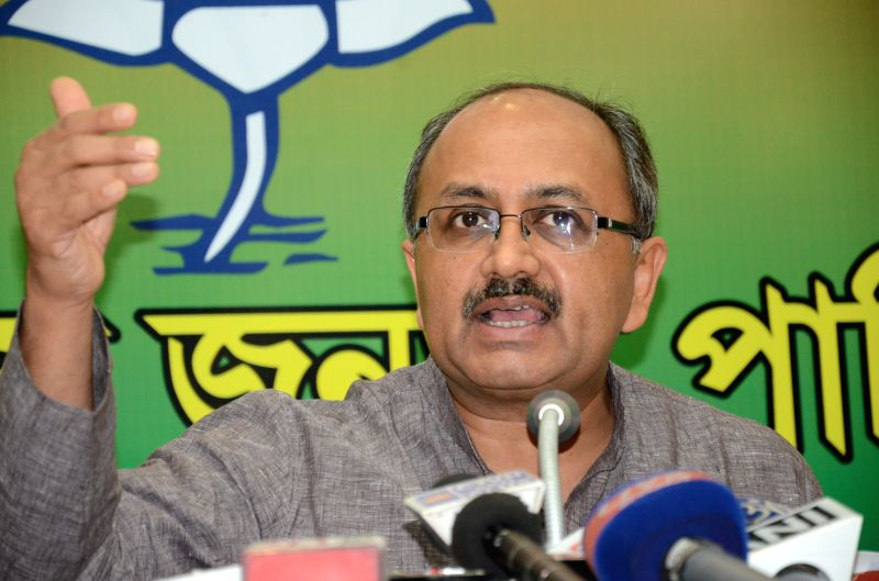 West Bengal state observer and BJP leader Sidharth Nath Singh at a press conference regarding upcoming KMC election in Kolkata on March 28, 2015.