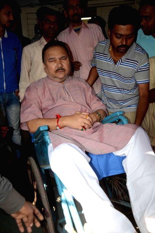 West Bengal transport minister Madan Mitra at SSKM hospital in Kolkata on Nov 22, 2014.