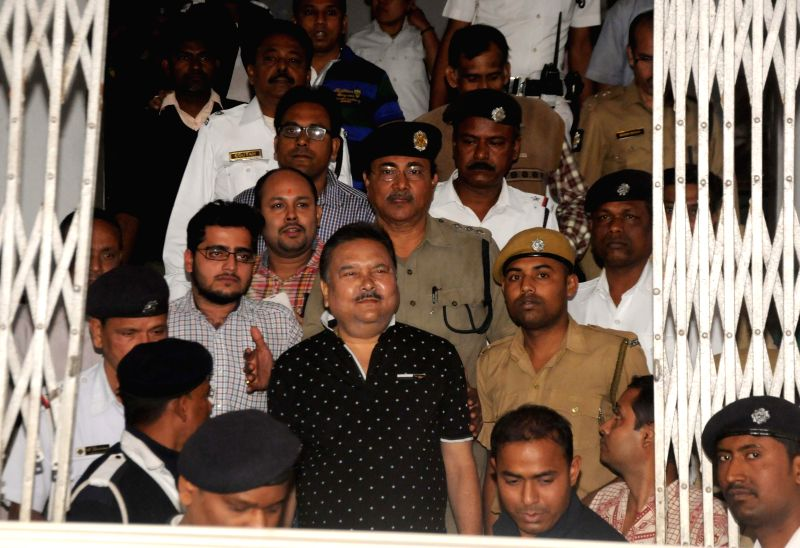 West Bengal Transport Minister Madan Mitra at SSKM Hospital for a health check up in Kolkata, on Feb 7, 2015.