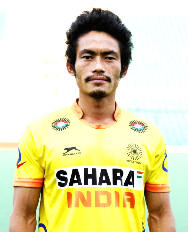 Kothajit Singh Khadangbam who was selected in the Indian Men Hockey Team for upcoming Hockey World Cup 2014 which is scheduled to begin on 31st May 2014 in The Hague, Netherlands. - Kothajit Singh Khadangbam