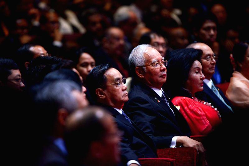 Malaysian Prime Minister Najib Razak (R, center) attends the opening ceremony of the 26th Association of Southeast Asian Nations (ASEAN) summit in Kuala ... - Najib Razak