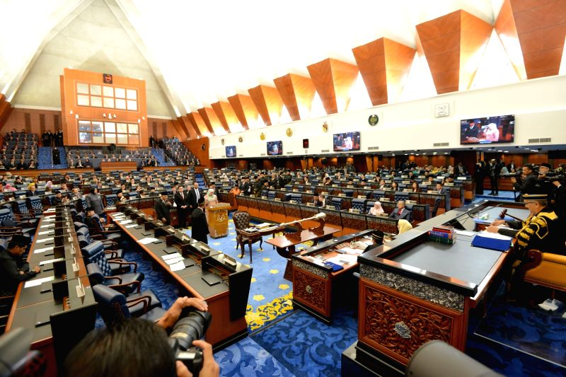 KUALA LUMPUR, July 16, 2018 - Malaysia's Members of Parliament attend the swearing-in ceremony in Kuala Lumpur, on July 16, 2018. Malaysia's Members of Parliament were sworn in on Monday, as the ...