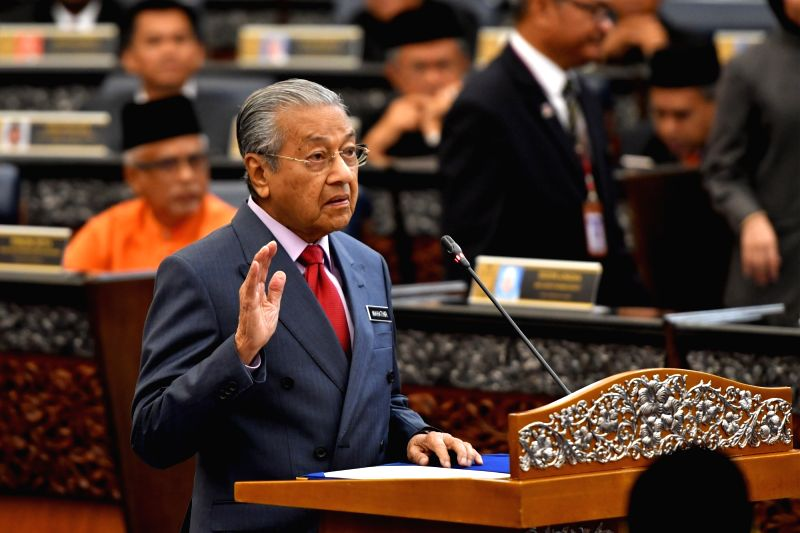KUALA LUMPUR, July 16, 2018 - Malaysian Prime Minister Mahathir Mohamad swears in as parliament member in Kuala Lumpur, on July 16, 2018. Malaysia's Members of Parliament were sworn in on Monday, as ... - Mahathir Mohamad
