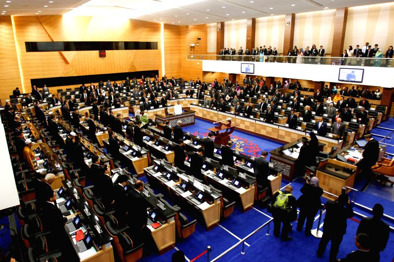 A specially convened session of Parliament is held in Kuala Lumpur, Malaysia, July 23, 2014. Malaysian Prime Minister Najib Razak on Wednesday condemned the ...
