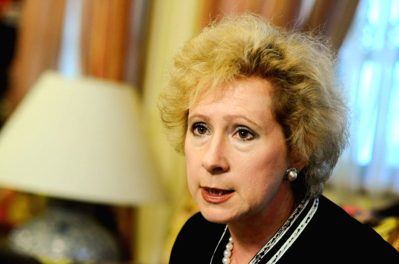 Liudmila G. Vorobyeva, the Russian ambassador to Malaysia speaks during an interview with Xinhua in Kuala Lumpur, Malaysia, on July 25, 2014. The crash of a ...