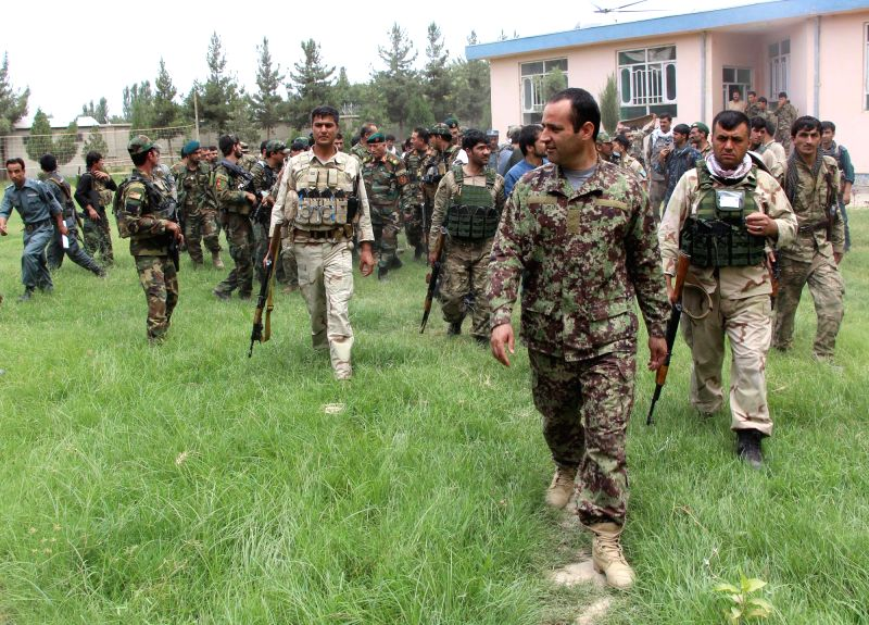 KUDNUZ, June 10, 2017 - Afghan security force members take part in a military operation in Imam Sahid district of Kunduz province, Afghanistan, June 10, 2017. Afghan security forces waged several ...