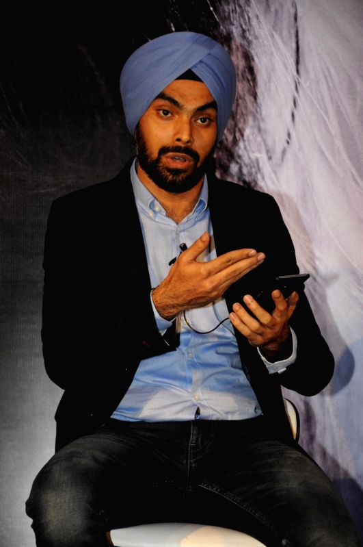 Kulbir Sachdev, Co Founder, Bebop Scale, India & South Asia Representative EscapeX during the launch of her own mobile app with New York based startup EscapeX in Mumbai on April 11, 2017.