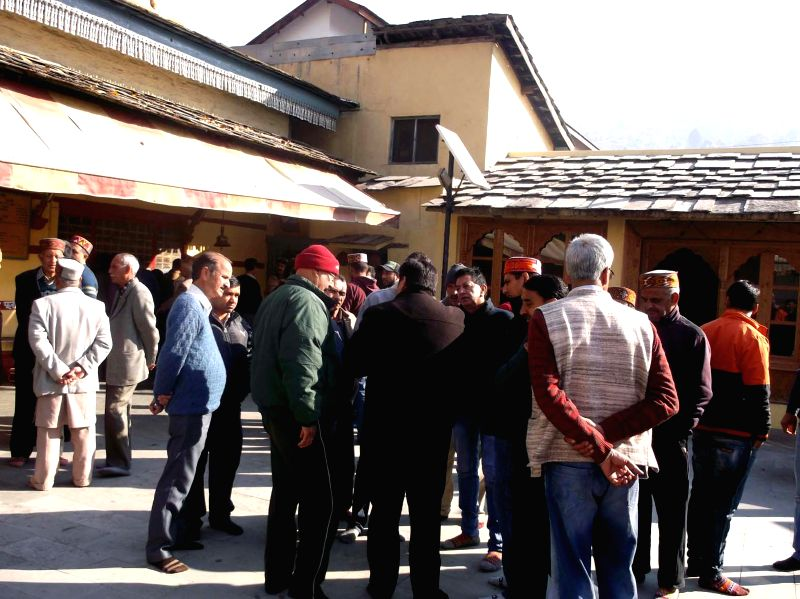 People gather at the Raghunath temple in Sultanpur, Kullu on Dec 9, 2014.